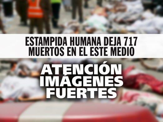 Estampida humana deja 717 muertos en el Este Medio.