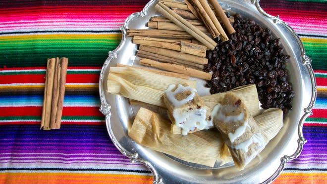 Food City sells traditional cinnamon-raisin dessert tamales. David Wallace/The Republic Cinnamon Raisin Tamales at a Food City in Phoenix onTuesday, November 27, 2012.