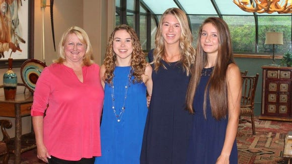 Members of Smoky Mountain's state-championship girls