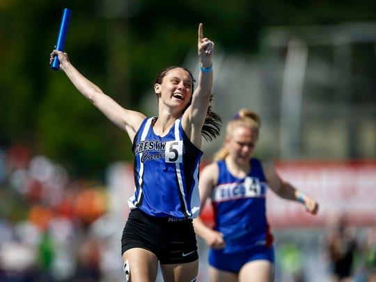 Crestwood's Ellie Friesen anchors the winning Class