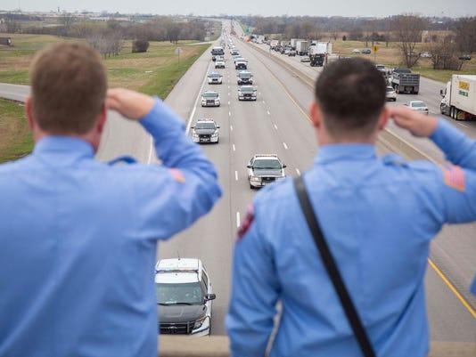 Susan Farrell, Des Moines Police Dept. funeral