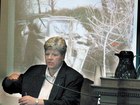 Pam Sturm testifies at the Avery  preliminary hearing