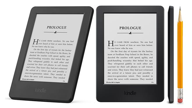 Amazon's 2014 entry-level Kindle reader gets rid of physical controls and throws in a touchscreen instead.