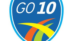This is the logo for the Go 10 project