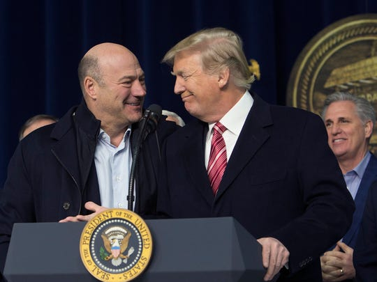 President Trump and chief economic adviser Gary Cohn affirm their support for each other at Camp David in Maryland Jan. 6.