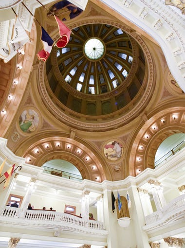 The rotunda in the South Dakota State Capitol on Jan. 9, 2018 in Pierre, S.D.