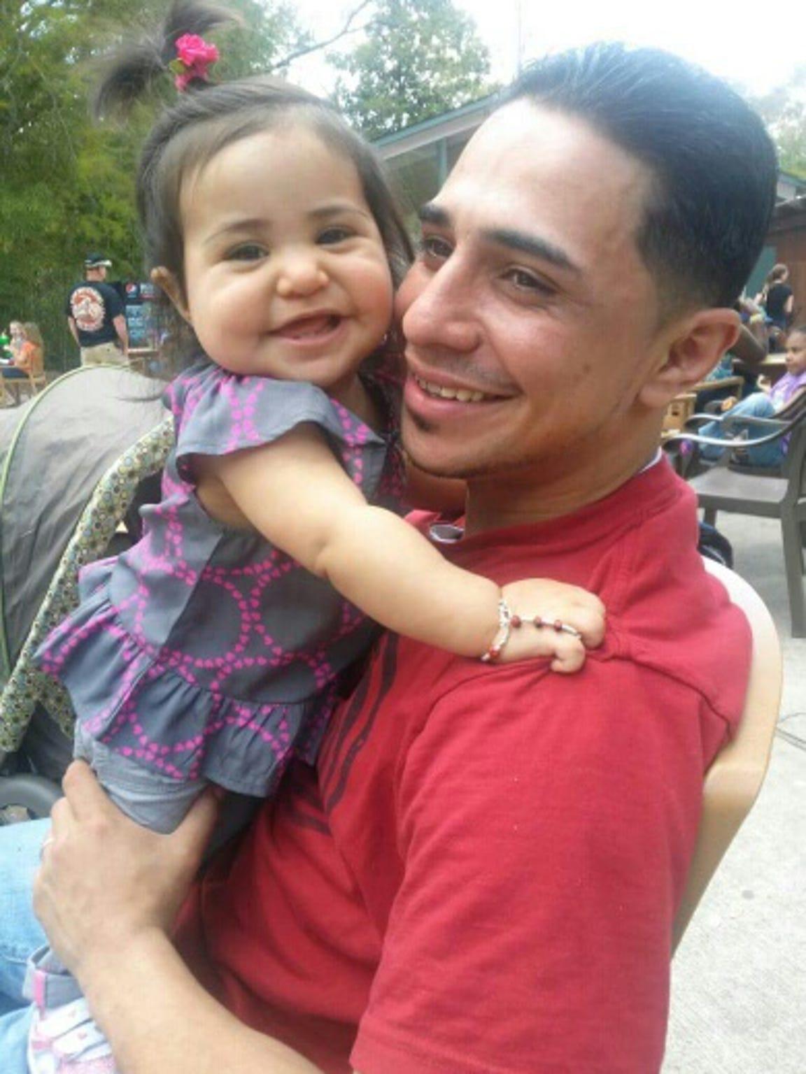 Norman Velez and daughter Skylar, now 4.