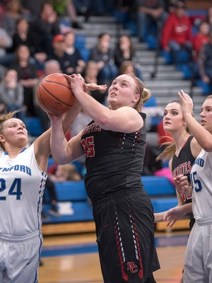Buckeye Central's Courtney Pifher attempts to score.