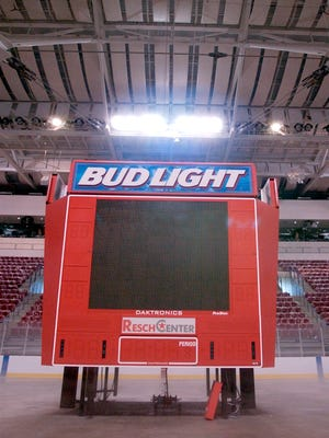 The current Resch Center scoreboard is more than 10 years old.