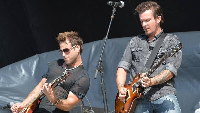 Parmalee performs July 19, 2013, in Twin Lakes, Wisconsin.