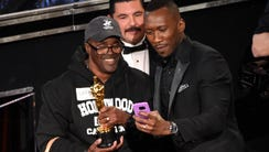 "Mahershala Ali, right, took an Oscar selfie with ""Gary"