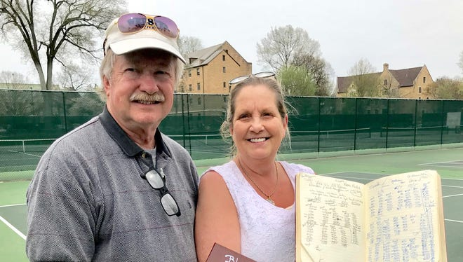 In keeping with a family tradition, Steve and Mary Webster have logged every point of every match played for Lexington this season by twin grandsons Blake and Brent Webster.