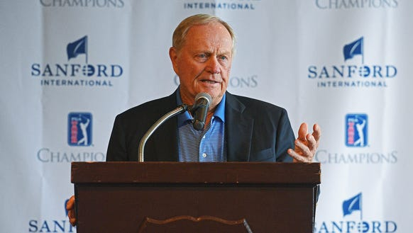 World Golf Hall of Fame member Jack Nicklaus speaks