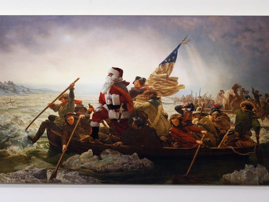 "The Santa Classics exhibit by Ed Wheeler includes ""Washington"