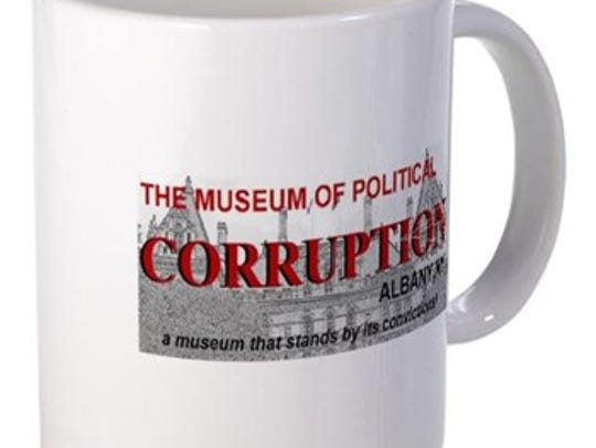 Coffee mug from the online gift shop of museum of corruption