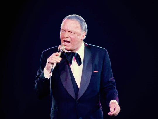 Frank Sinatra performs in this June 23, 1979 file photo during his concert at the Nassau Coliseum, in Uniondale, N.Y.