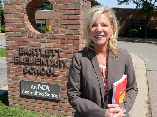 South Lyon School District Superintendent Melissa Baker stops back at where it all started for her, Bartlett Elementary, where she first taught in in the district. She assumed the top administrative role July 1, 2015 and will step down as superintendent at the end of this year.