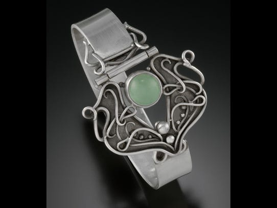 Bracelet by Amy Taylor, who is showing her work in