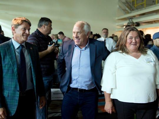 From left, Randy Boyd, Greg LeMond and Connie Jackson