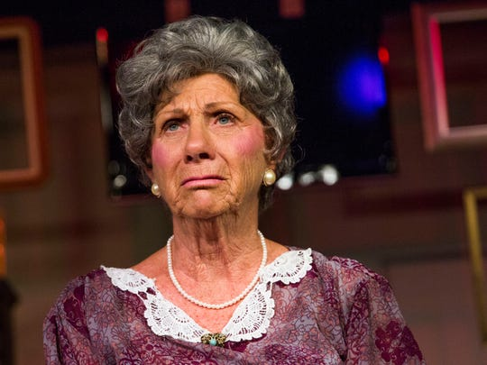 """Marilyn Hilbert, who plays Daisy Werthan, rehearses """"Driving Miss Daisy"""" at The Marco Players Theater on Wednesday, March 8, 2017."""