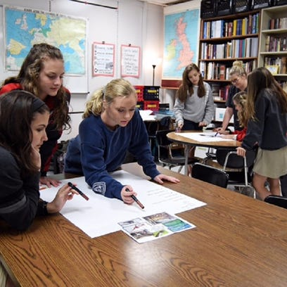 Petal High sophomores work on an assignment in their