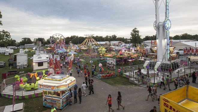 Delaware County Fair midway, 2015.