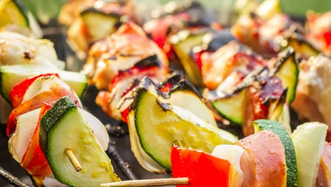 What's cooking this summer? Chicken kabobs, according to Pinterest users.