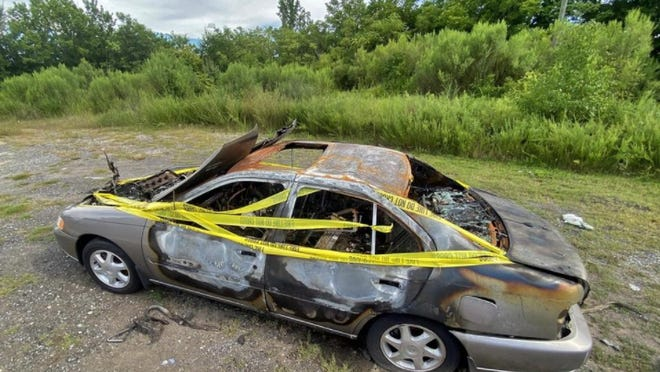 A car set ablaze in July on Graham Street in Shelby is one of a dozen arson cases investigators with the Shelby Police Department are looking into.