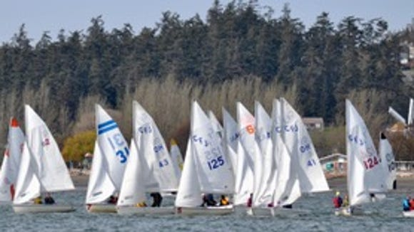 Bainbridge sailing team competed in the Oak Harbor Regatta and finished third last weekend at Whidbey Island.