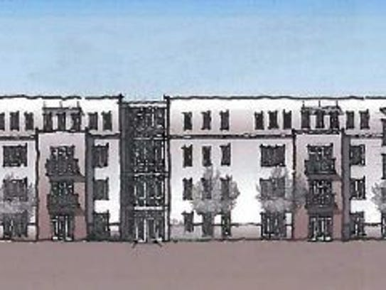 A preliminary sketch of one of Maplewood's larger residential