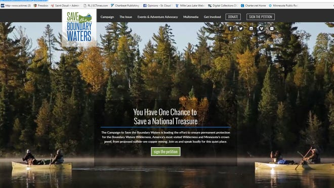 Save the Boundary Waters website.