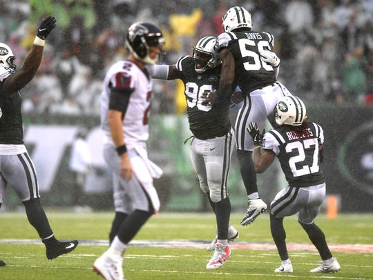 New York Jets defensive end Muhammad Wilkerson (96)
