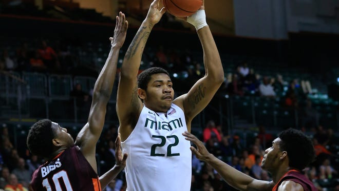 New Louisiana Tech forward Omar Sherman, who played at Miami in 2015, will add size and depth to the front court.