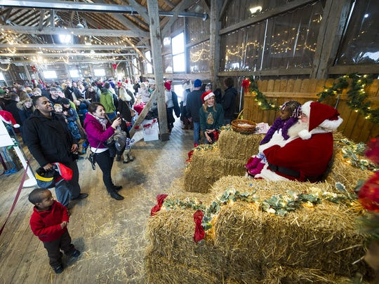 Christmas on the Farm at Traders Point Creamery features activities for children and their parents.
