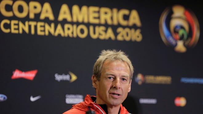 U.S. men's soccer coach Jurgen Klinsmann was relieved of his duties Monday.