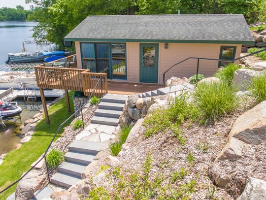 A boathouse and dock give you easy access to Lake Sylvia