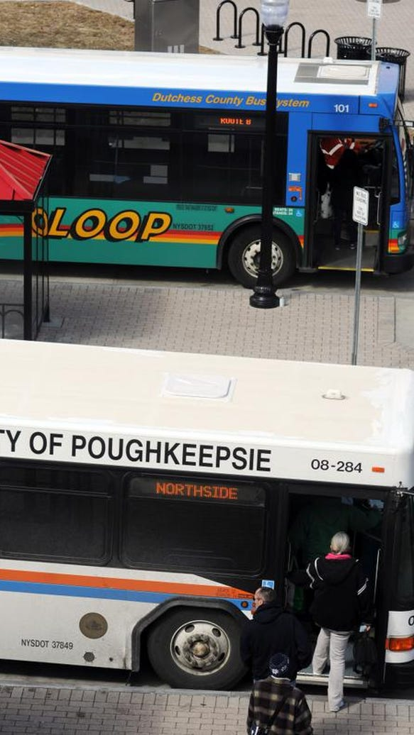 In this 2014 file photo, a City of Poughkeepsie bus,