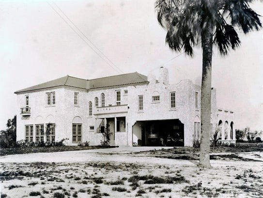 Italian Villa on Castle Hill property in 1930s
