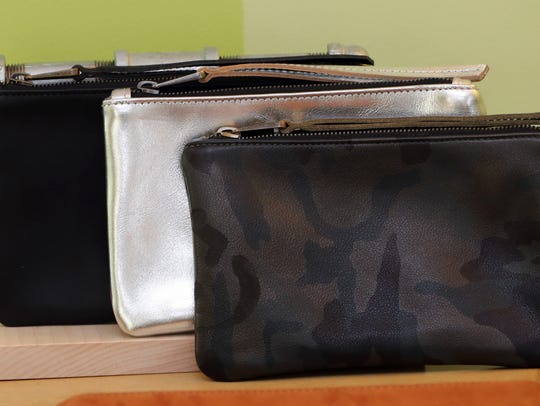 Small purses made by Brittney MacKenzie, owner of an