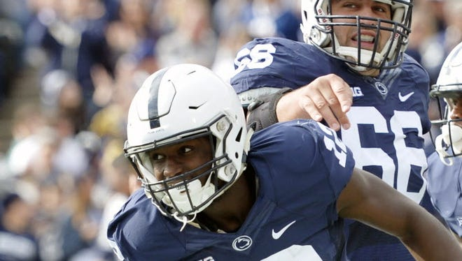 Penn State needs playmakers like Chris Godwin (12) and DaeSean Hamilton (5) to come down with all the big plays to have a shot Saturday against the Spartans.