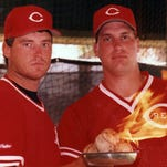 MARCH 26, 1990: Randy Myers and Rob Dibble form perhaps the hardest-throwing bullpen in baseball today (1990).