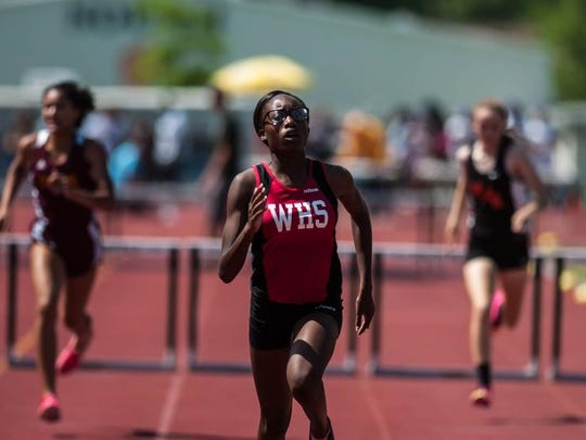Woodbridge's Temi Odukale placed sixth in the Group III girls 400 hurdles.