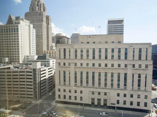 The Theodore Levin federal courthouse in downtown Detroit.