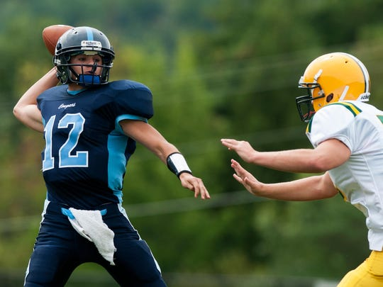 Dominic Mosca, left, and Mount Mansfield will play in Division II this season.