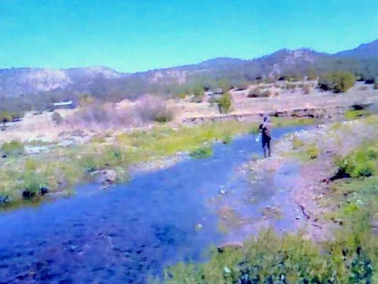 testing along river