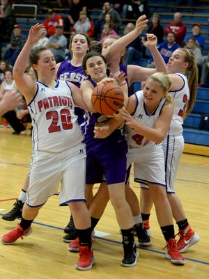 Union County hosts Hagerstown for a girls basketball game Wednesday, Dec. 9, 2015, in Liberty.
