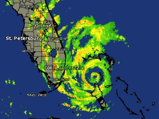 Hurricane Matthew radar image