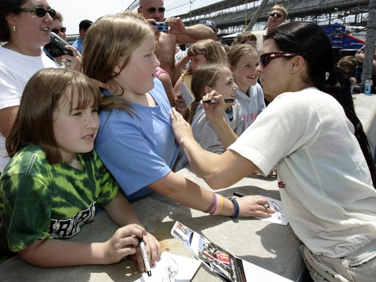 Danica Patrick signed autographs on May 18, 2005, during