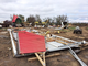 A farm south of Delmont suffered extensive damage after