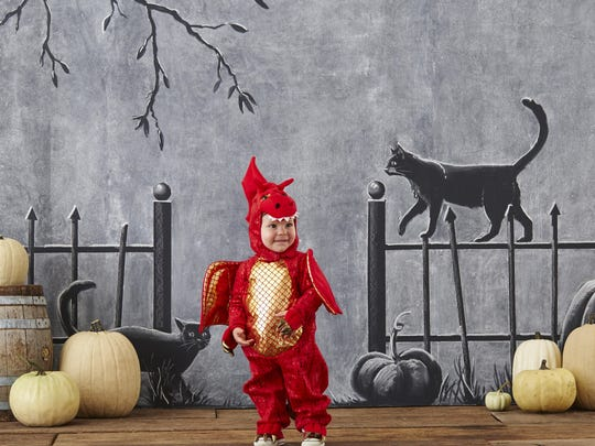 Don't breathe fire — breathe cuteness in this dragon costume. $59 to $79 at Pottery Barn Kids.